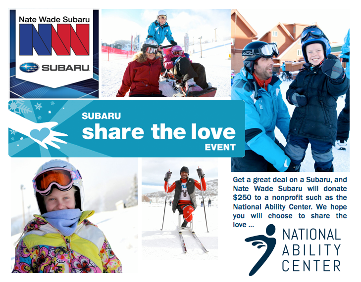 Share the Love with the National Ability Center 2013